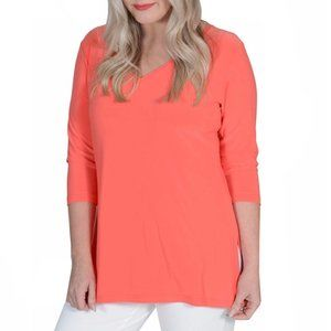 Sympli Orange To Go V Neck Tee Size 10